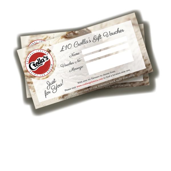 £10 Crolla's Gift Voucher 1